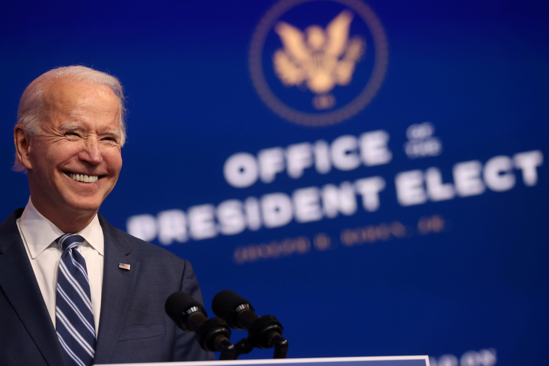 O presidente eleito dos EUA, Joe Biden