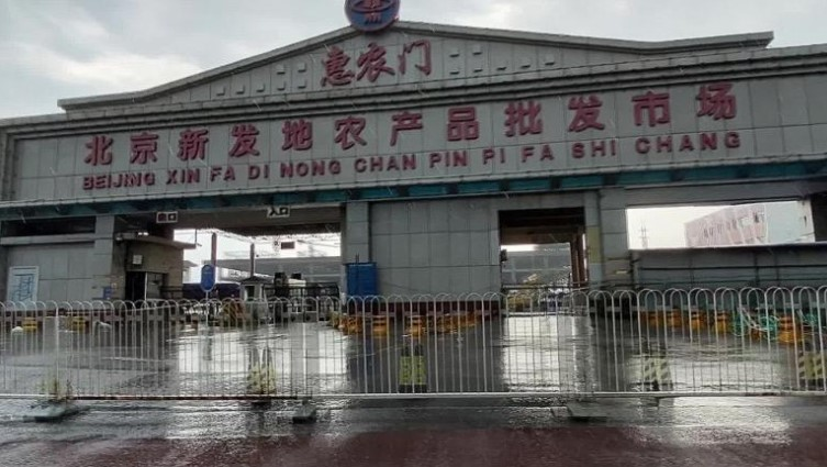Mercado de vida selvagem em Wuhan, China