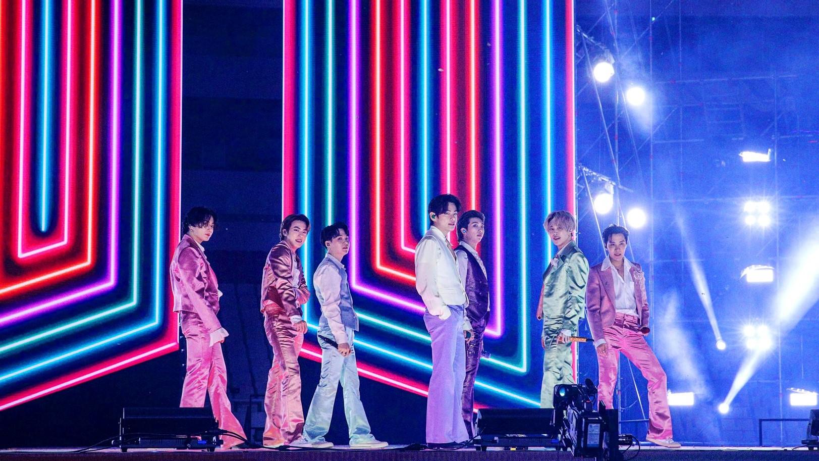BTS no palco