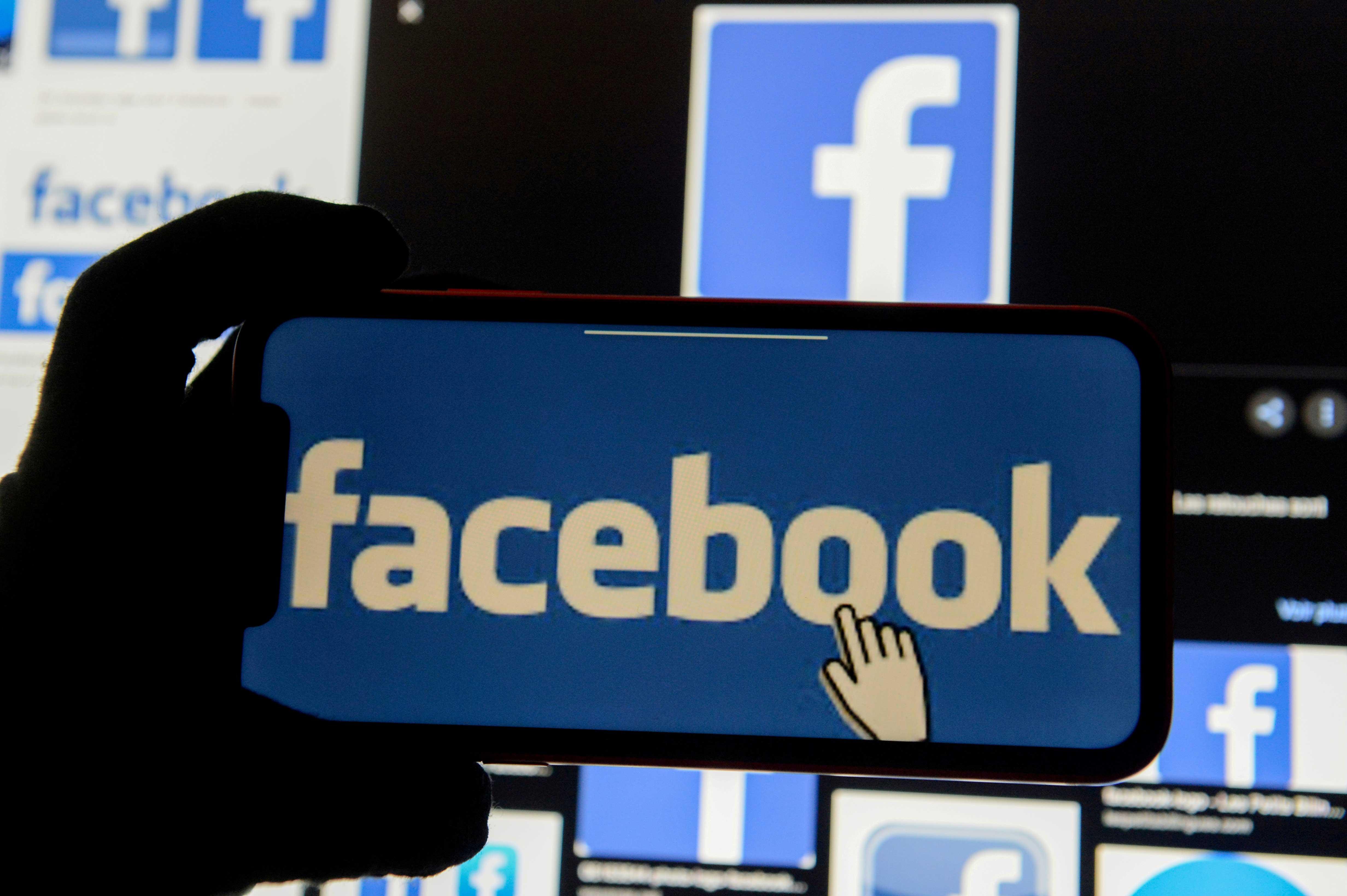 Ilustração com logo do Facebook