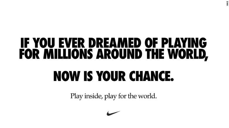 Campanha da Nike para as redes sociais