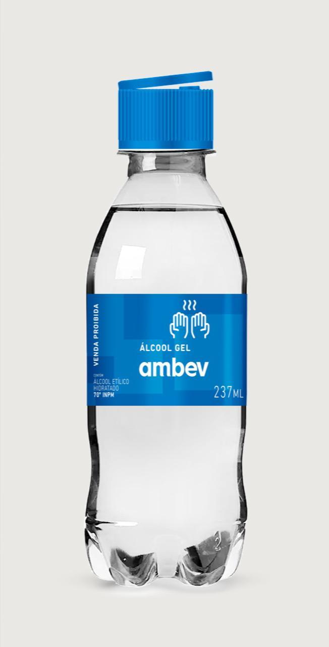 Álcool gel da Ambev