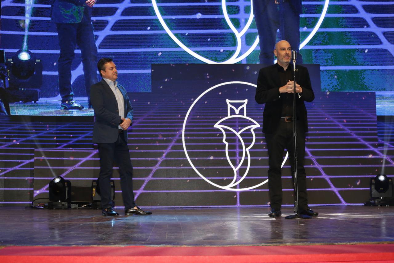 Marcos Vinícius Chisco, vice-presidente da emissora, e Douglas Tavolaro, CEO da