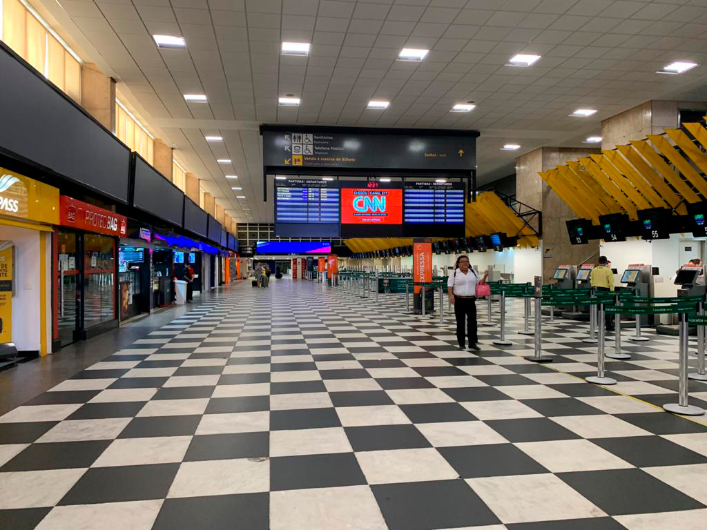 Aeroporto de Congonhas vazio
