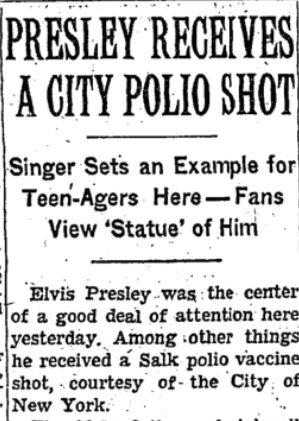 Manchete NYT vacina polio