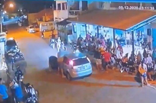 Câmera de segurança registrou ataque em bar em São Francisco de Itabapoana