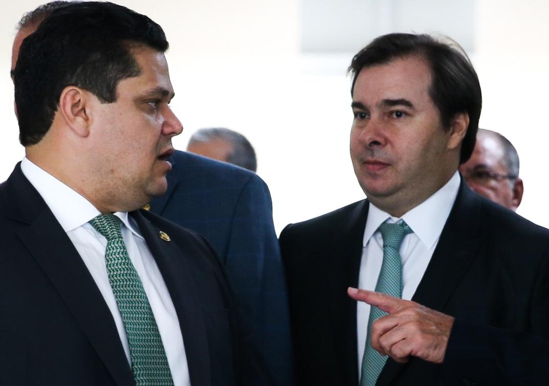 Os presidentes do Senado, Davi Alcolumbre, e da Câmara dos Deputados, Rodrigo Ma