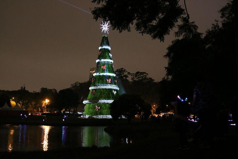 Decoração de Natal no Parque Ibirapuera