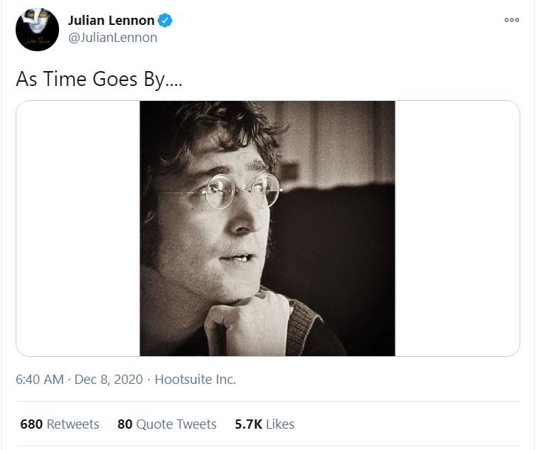 Homenagem de Julian Lennon ao pai