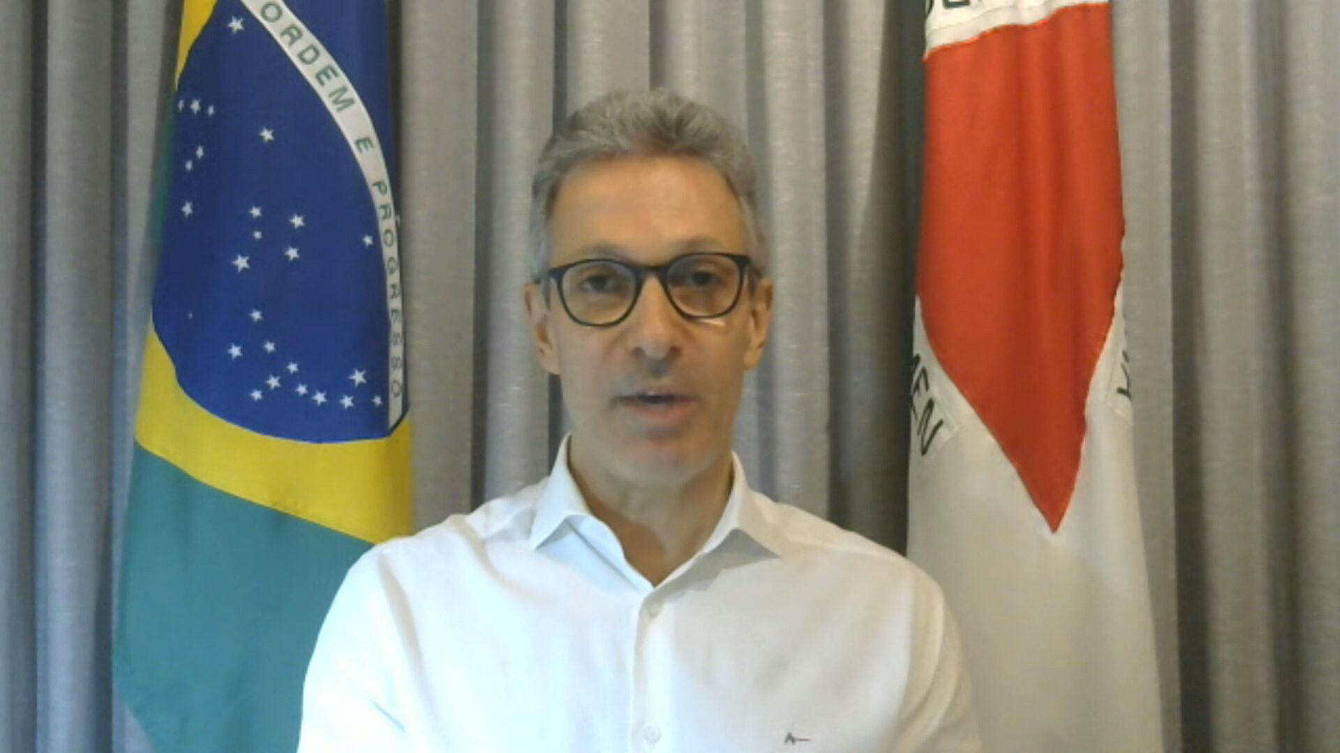 O governador de Minas Gerais, Romeu Zema (Novo) (08.dez.2020)