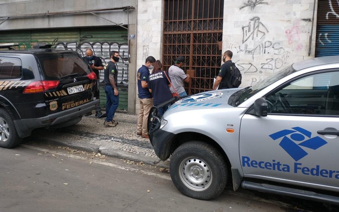 Operação da Polícia Federal e da Receita Federal no Rio de Janeiro