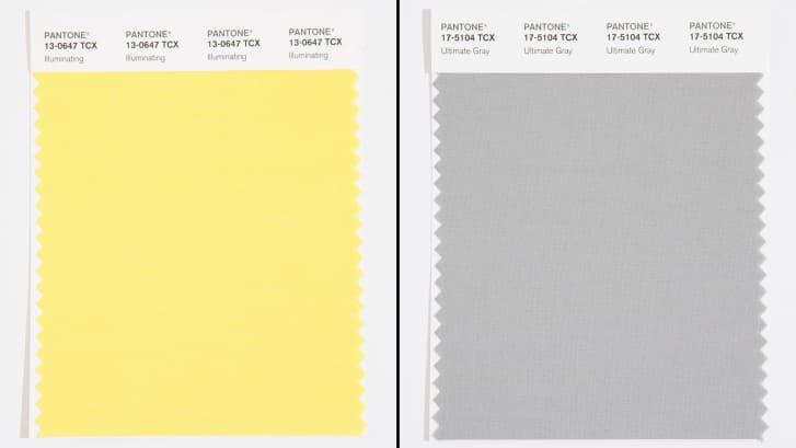 A Pantone escolheu o amarelo e o cinza Ultimate Gray como as cores de 2021