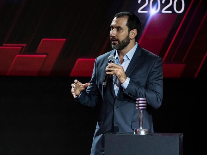 CFO do iFood, Diego Barreto, durante cerimônia do Prêmio Notáveis CNN 2020