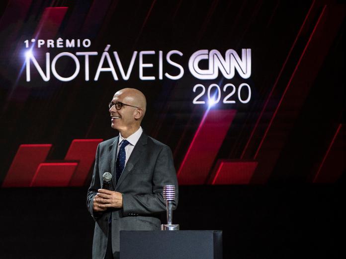 O presidente do Banco Santander Brasil, Sergio Rial, durante cerimônia do Prêmio