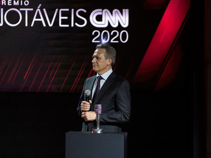 CEO da JBS, Gilberto Tomazoni, durante entrega do Prêmio Notáveis CNN 2020