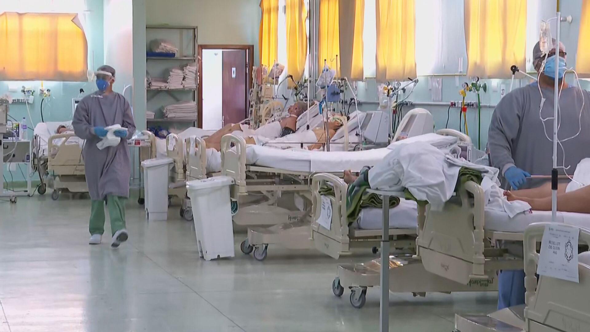 Leitos de UTI e enfermaria para Covid-19 em hospitais do interior de SP (18.dez.