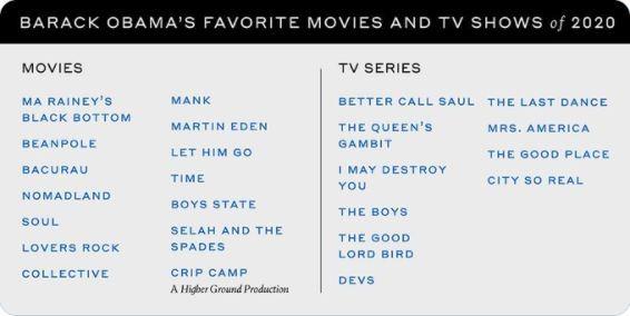 Obama listou suas atrações favoritas