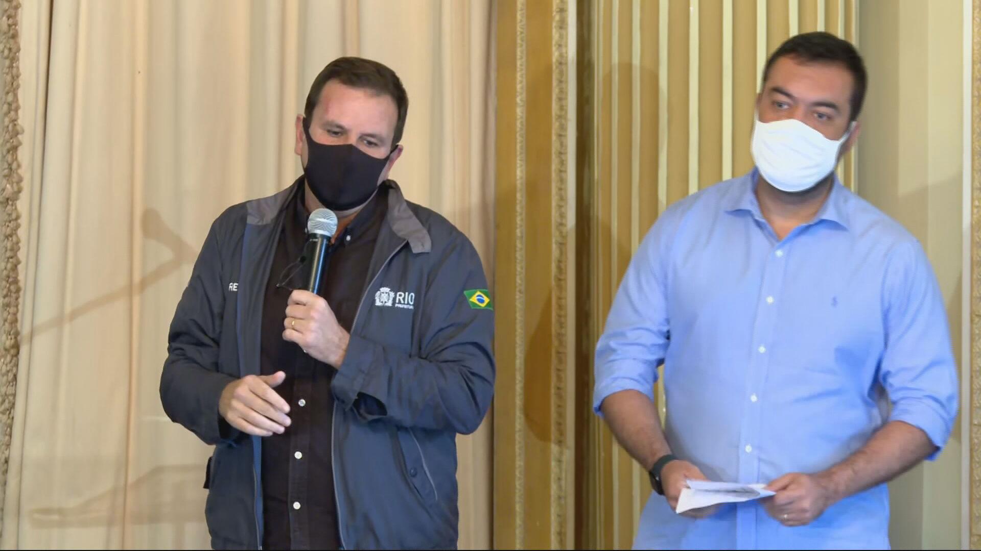 Paes e Castro dizem que vacinação no Rio começa ainda em janeiro