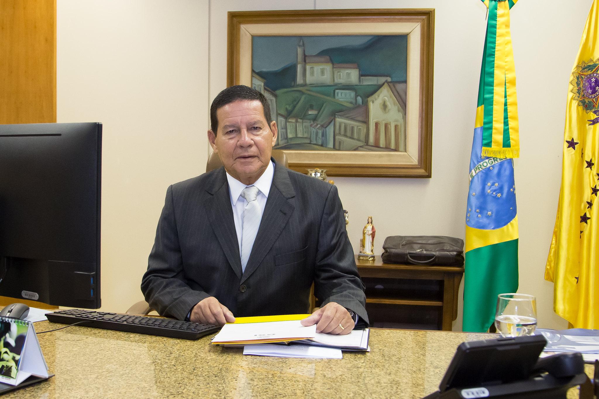O vice-presidente Hamilton Mourão