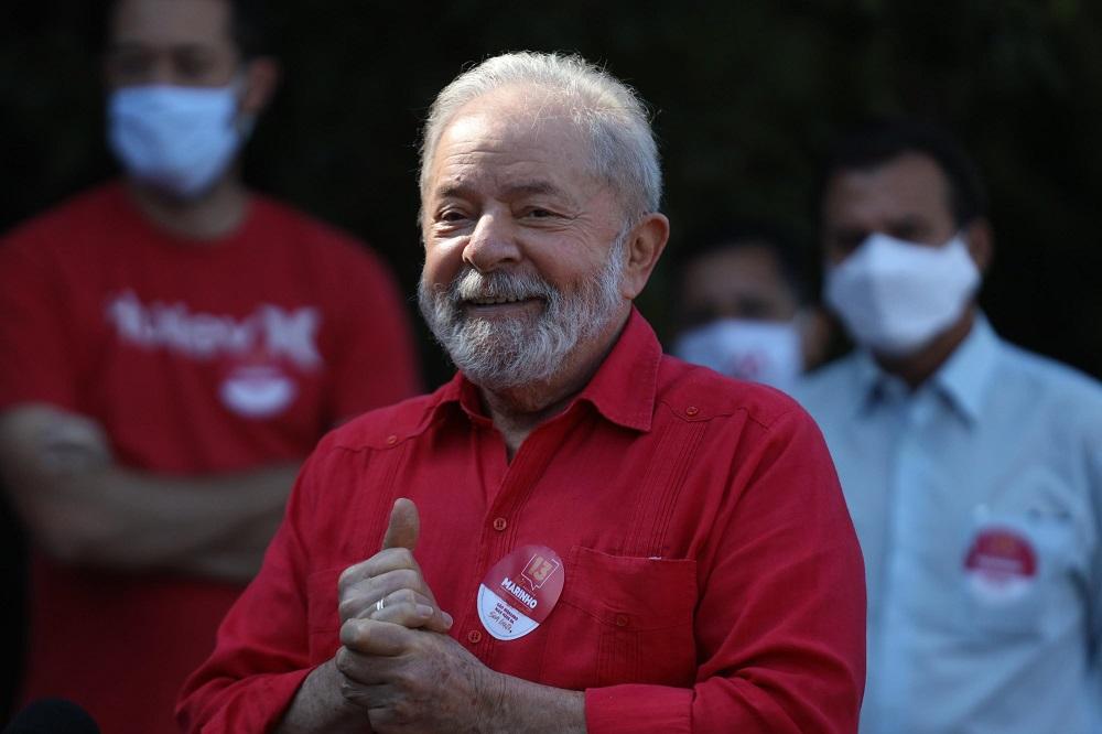 O ex-presidente Luiz Inácio Lula da Silva em São Bernardo do Campo