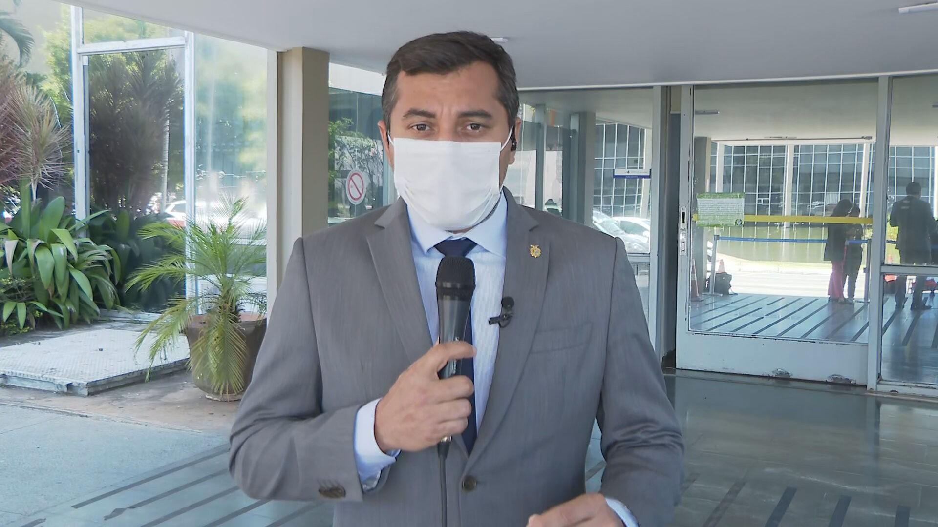 O governador do Amazonas, Wilson Lima (PSC) (06.jan.2021)