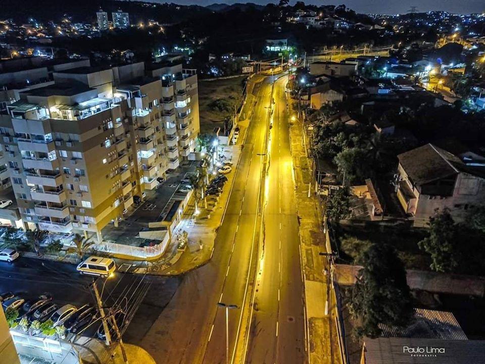 Ruas vazias em Niterói