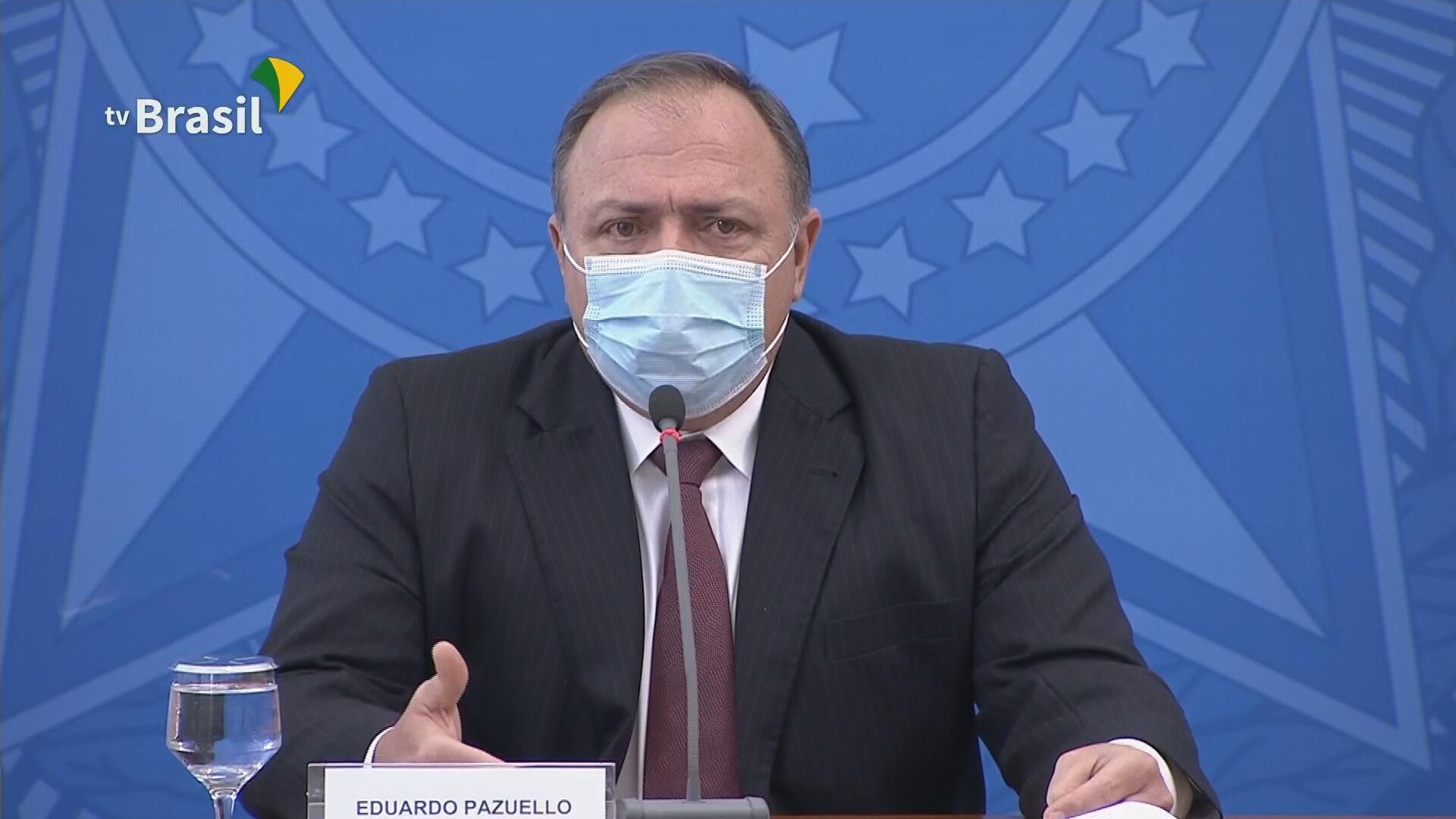 Eduardo Pazuello, ministro da Saúde