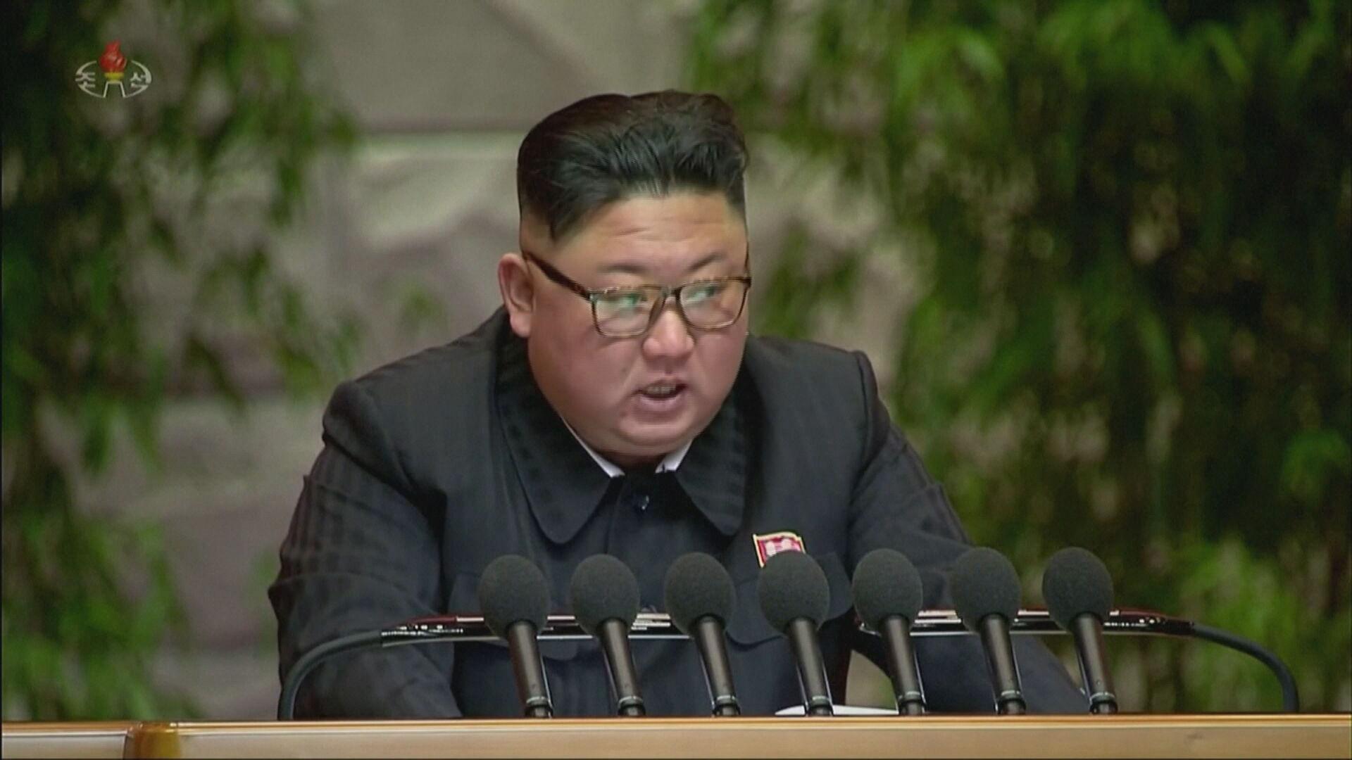 Kim Jong Un em congresso na Coreia do Norte
