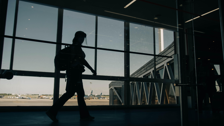 Aeroporto, avião, passageiro, voo, viagem