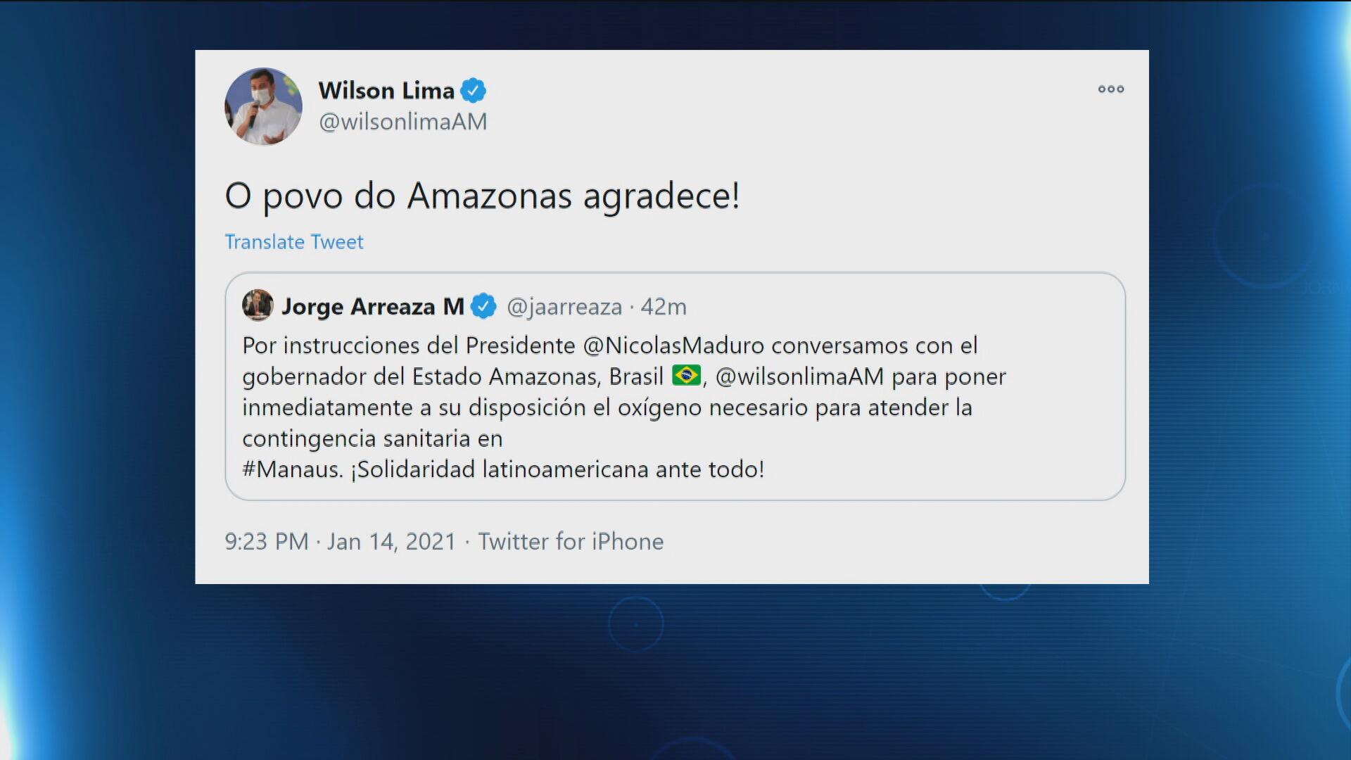 Venezuela anunciou através de seu ministro da Relações Anteriores, Jorge Arreaza