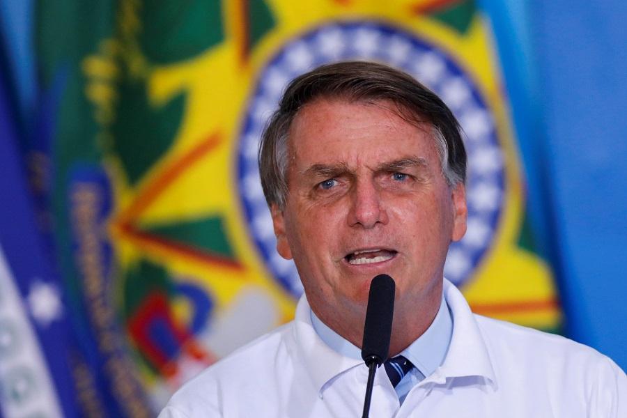 Presidente Jair Bolsonaro durante cerimônia no Palácio do Planalto
