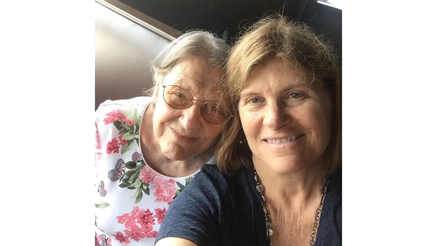 Sheryl Pardo com a mãe, Sandra Wilkins