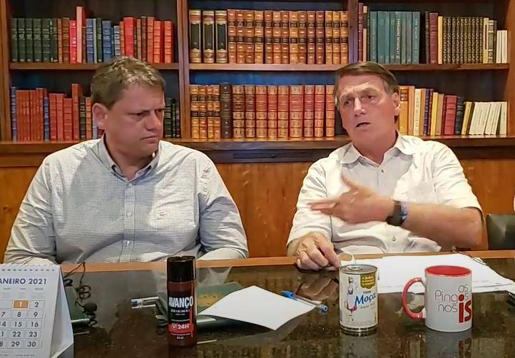 Bolsonaro Tarcísio Greve dos Caminhoneiros