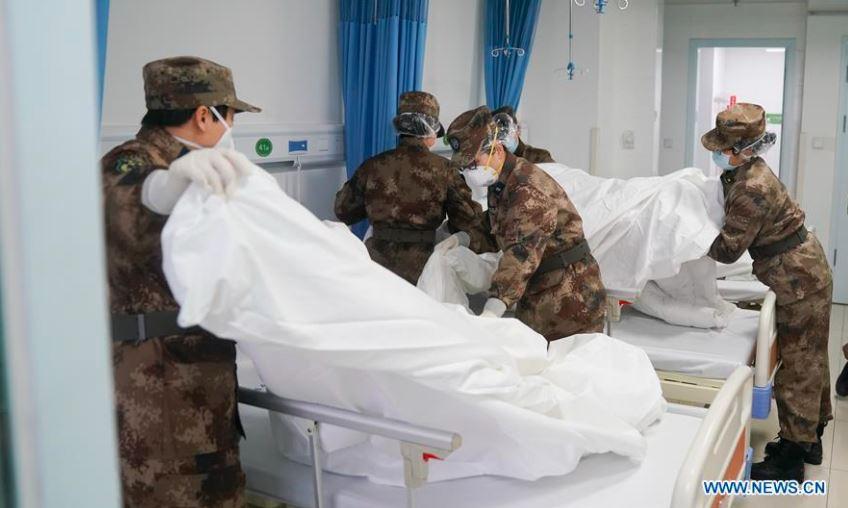 Hospital Jinyintan, em Wuhan, que tratou alguns dos primeiros pacientes de Covid
