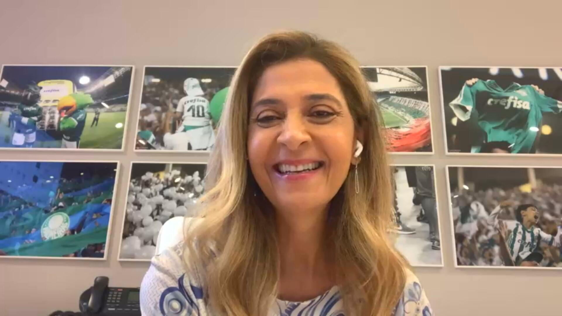 Leila Pereira, conselheira do Palmeiras e presidente da Crefisa (02.fev.2021)