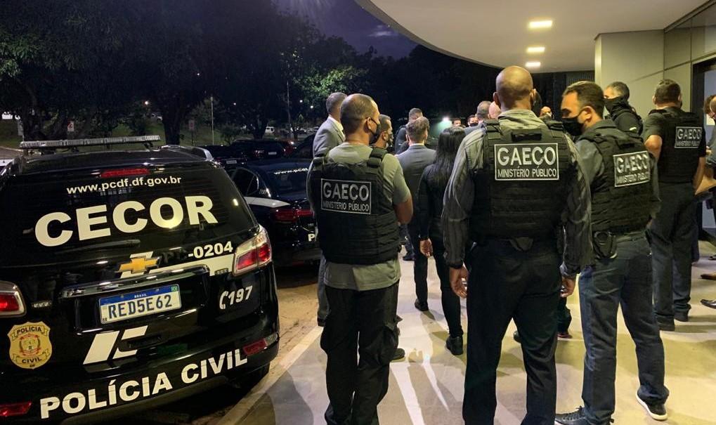 Agentes do Gaeco fazem operação no Distrito Federal
