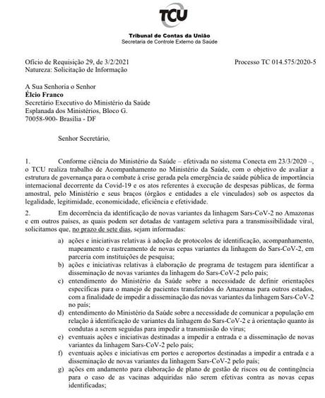 documento tcu pazuello