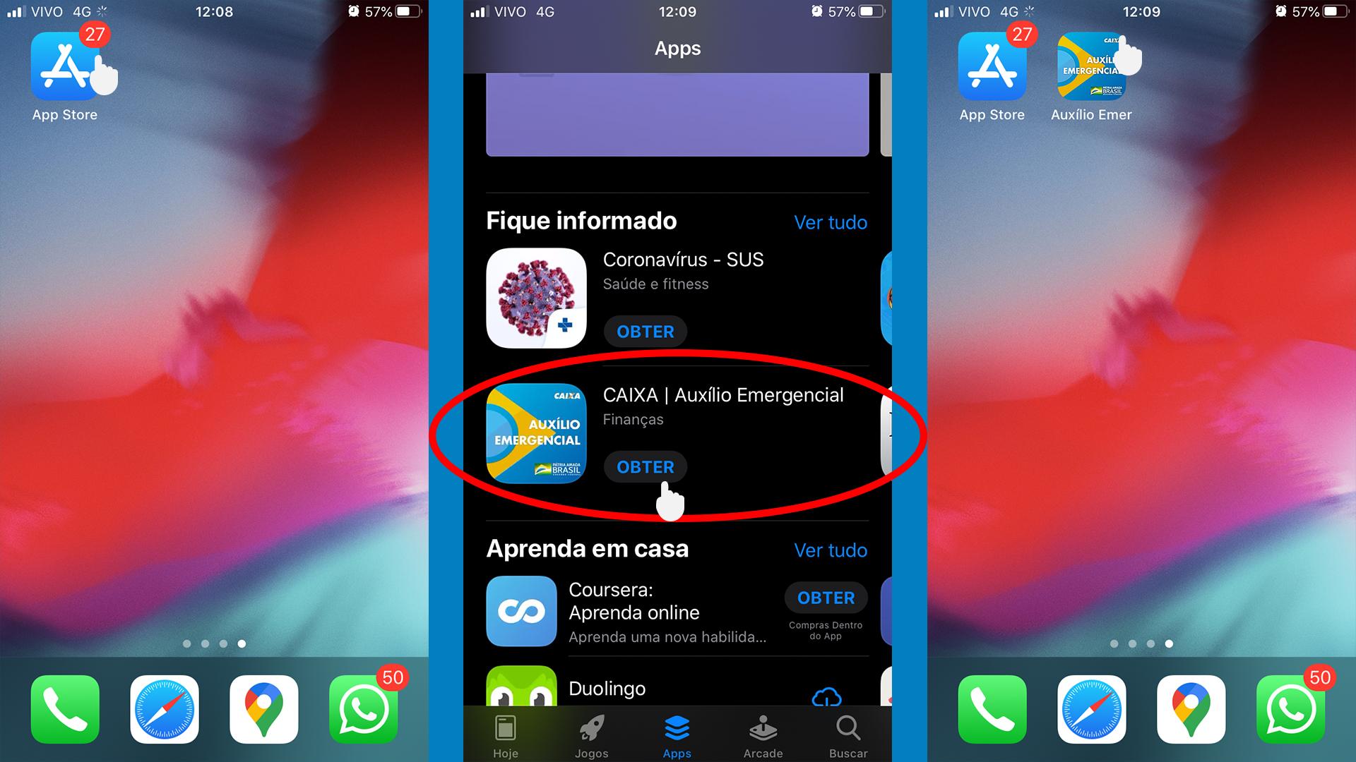 App Caixa Auxílio Emergencial passo a passo 01