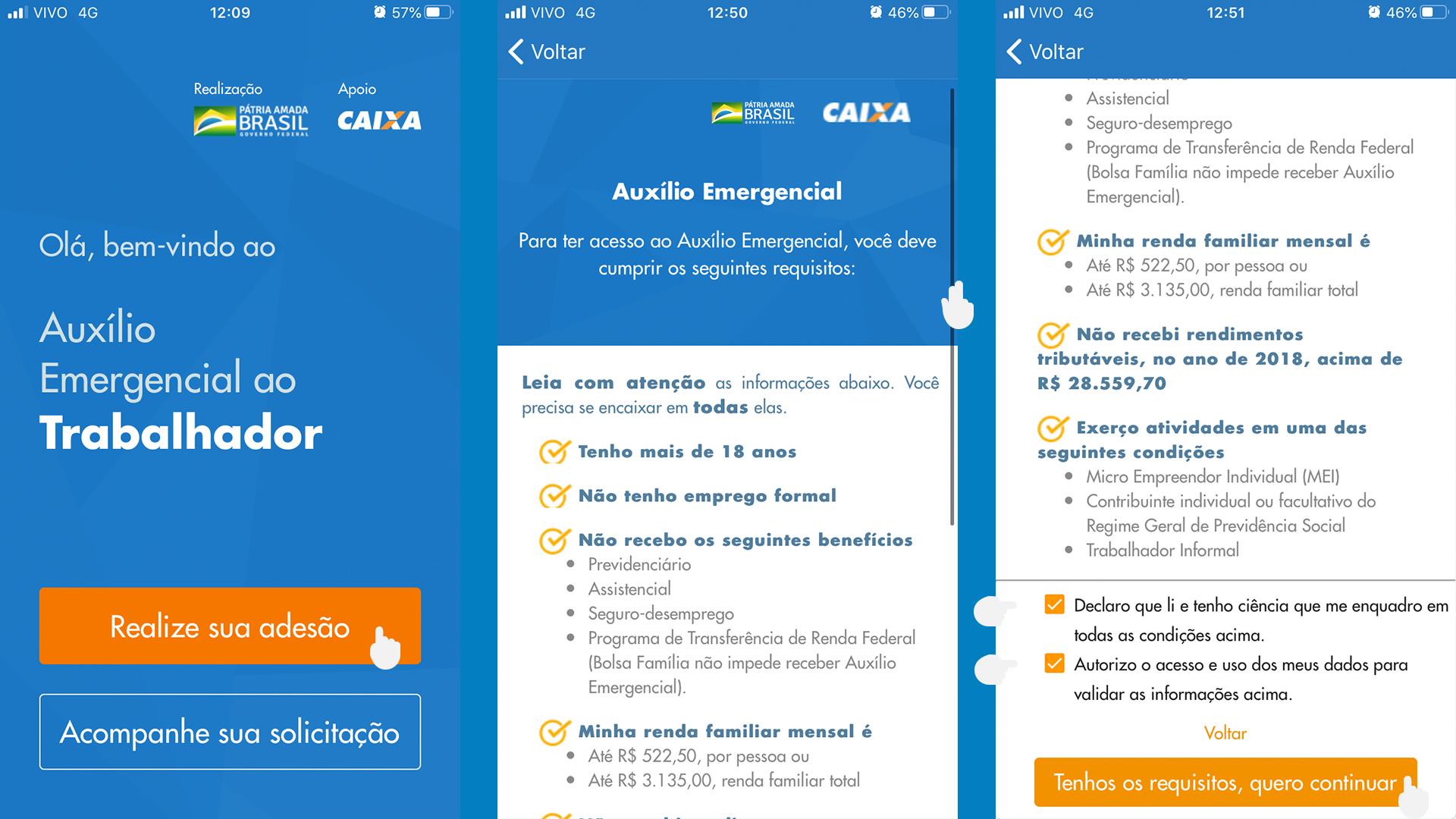 App Caixa Auxílio Emergencial passo a passo 02