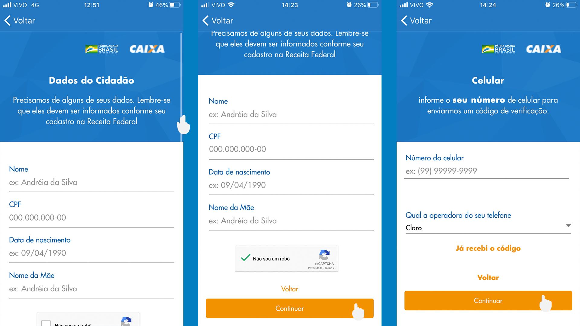 App Caixa Auxílio Emergencial passo a passo 03