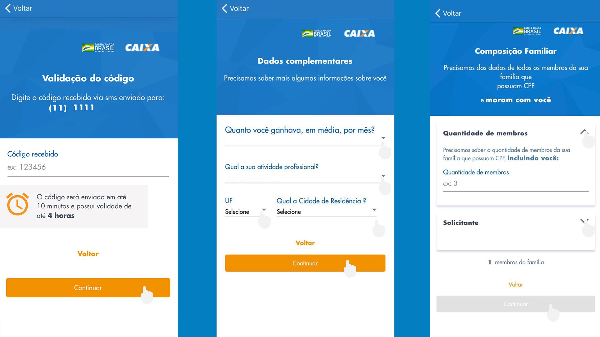 App Caixa Auxílio Emergencial passo a passo 04