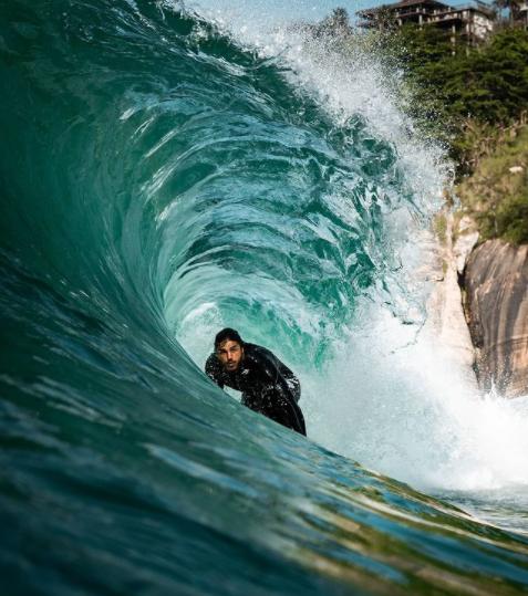 Altas ondas se formaram no último final de semana na costa fluminense