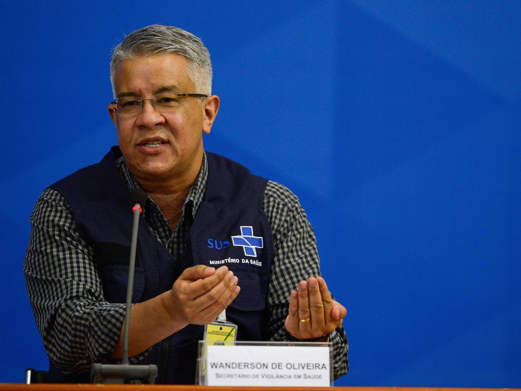 O secretário de Vigilância em Saúde, Wanderson Kléber de Oliveira