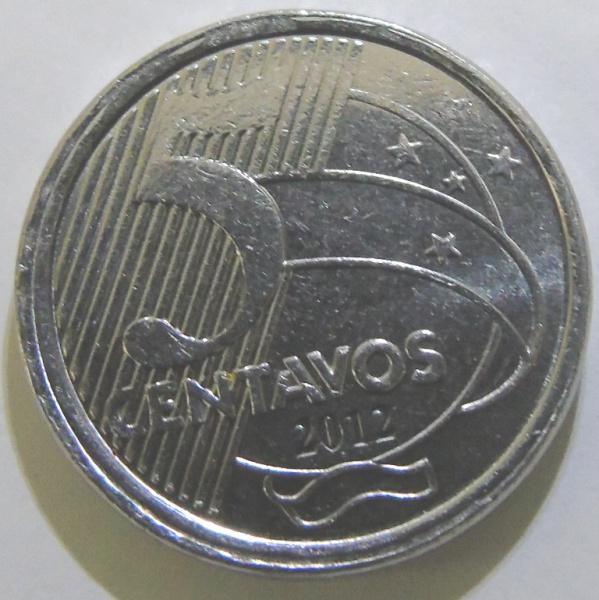 Moeda de 50 centavos de 2012 sem o zero