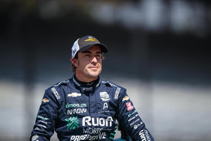 O piloto Fernando Alonso em Indianápolis
