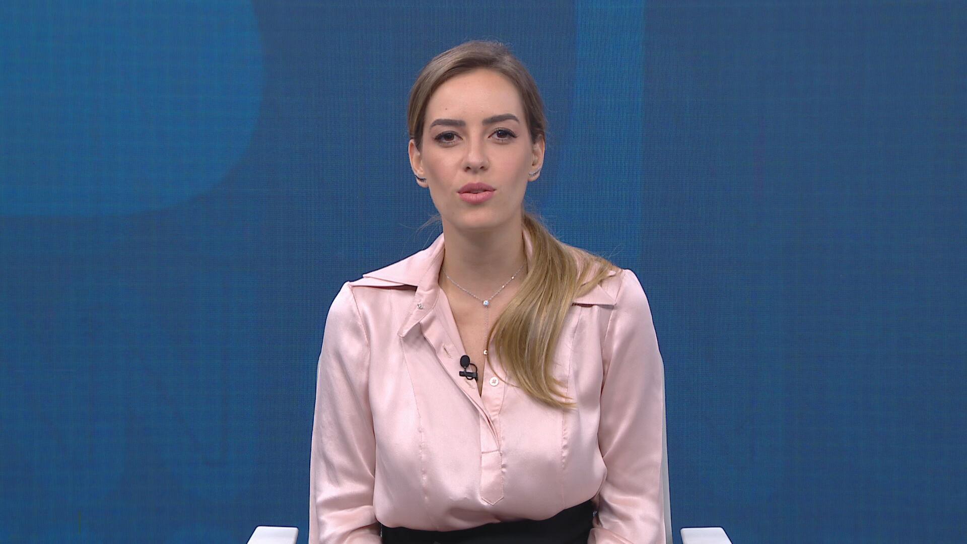 A comentarista Maria Fernanda Saad no quadro Liberdade de Opinião
