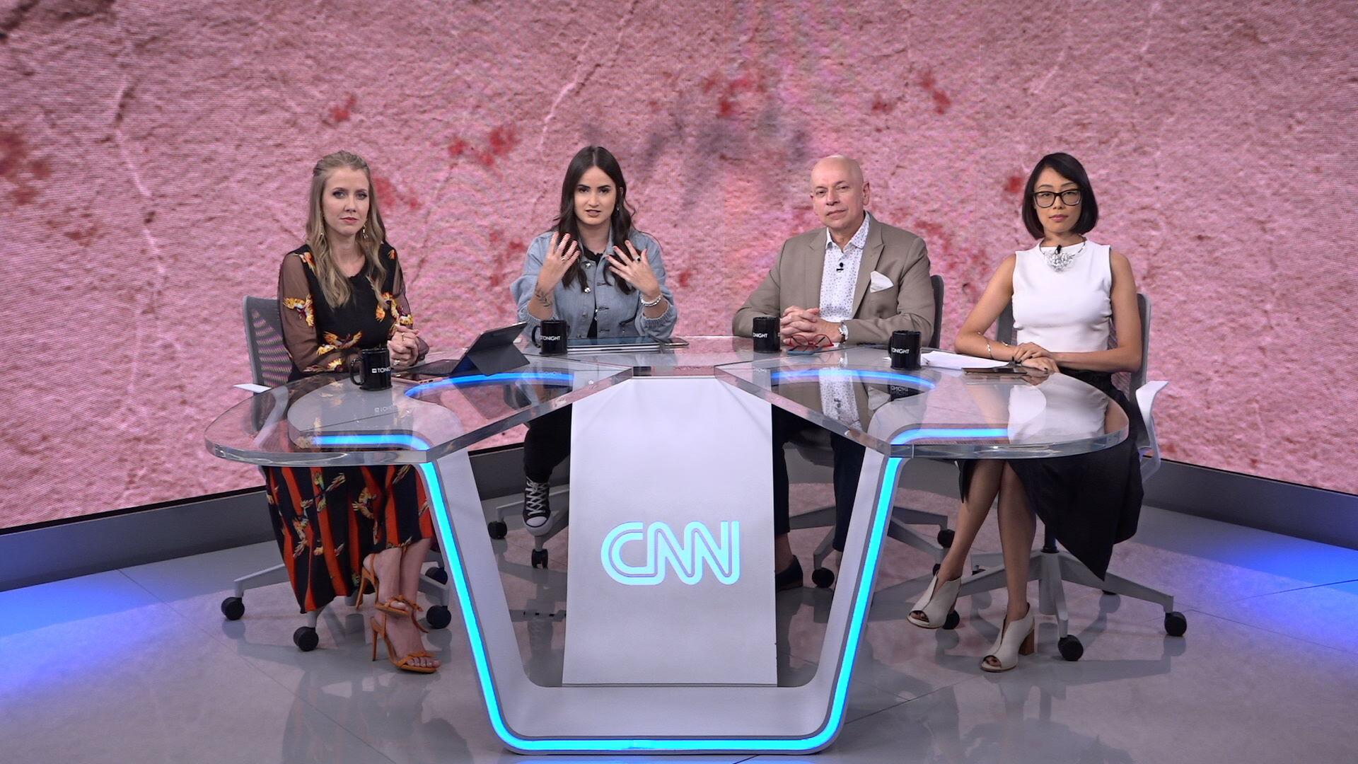 CNN Tonight, apresentado por Mari Palma, Gabriela Prioli e Leandro Karnal