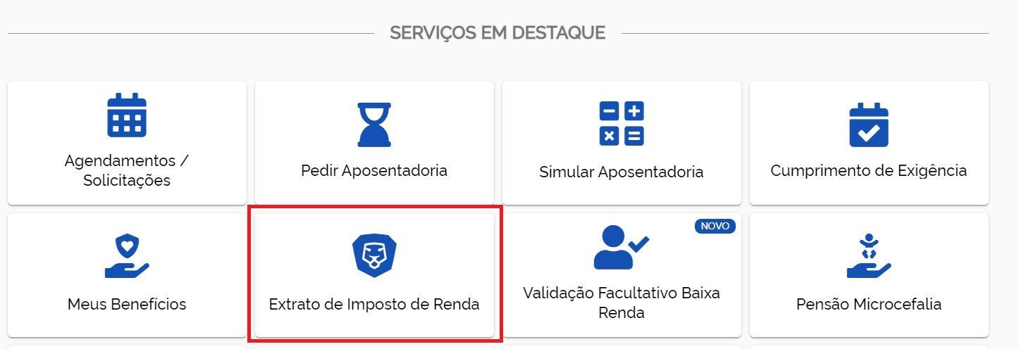 Extrato do Imposto de Renda do INSS