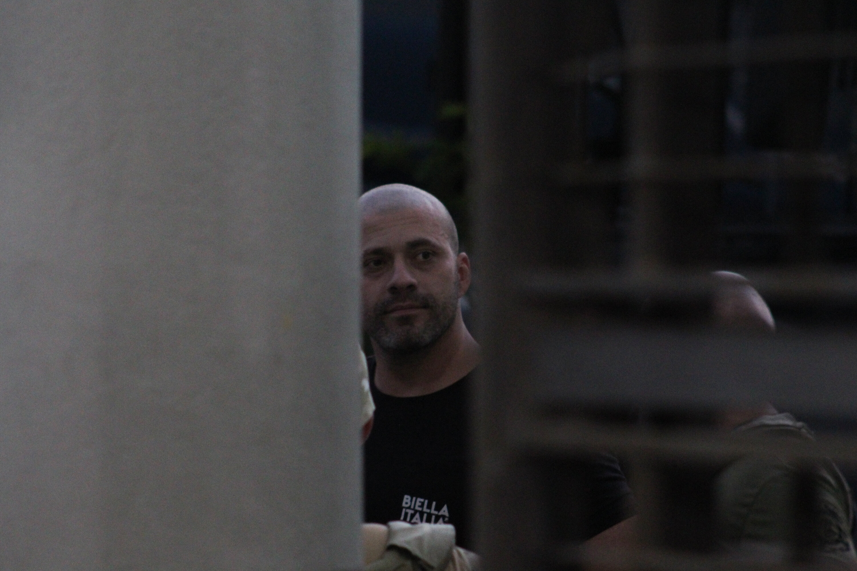 O deputado federal Daniel Silveira (PSL-RJ) na sede da Polícia Federal no Rio