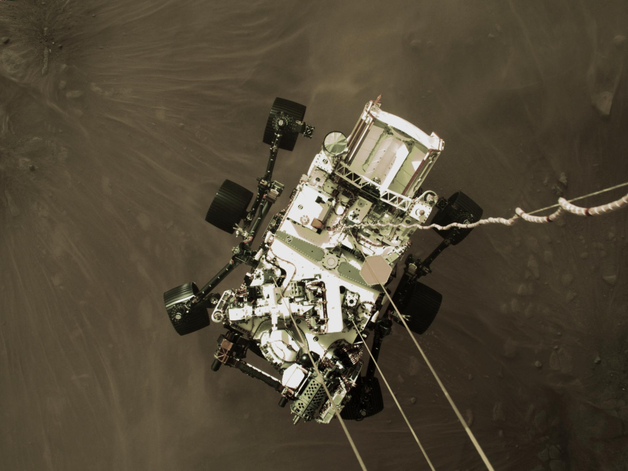 A sonda Perseverance se prepara para aterrissagem em Marte